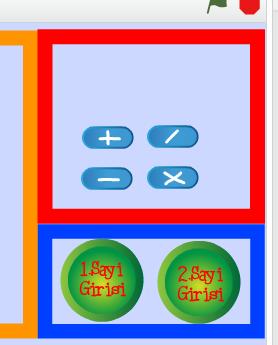 scratch hesap makinası işlem butonları