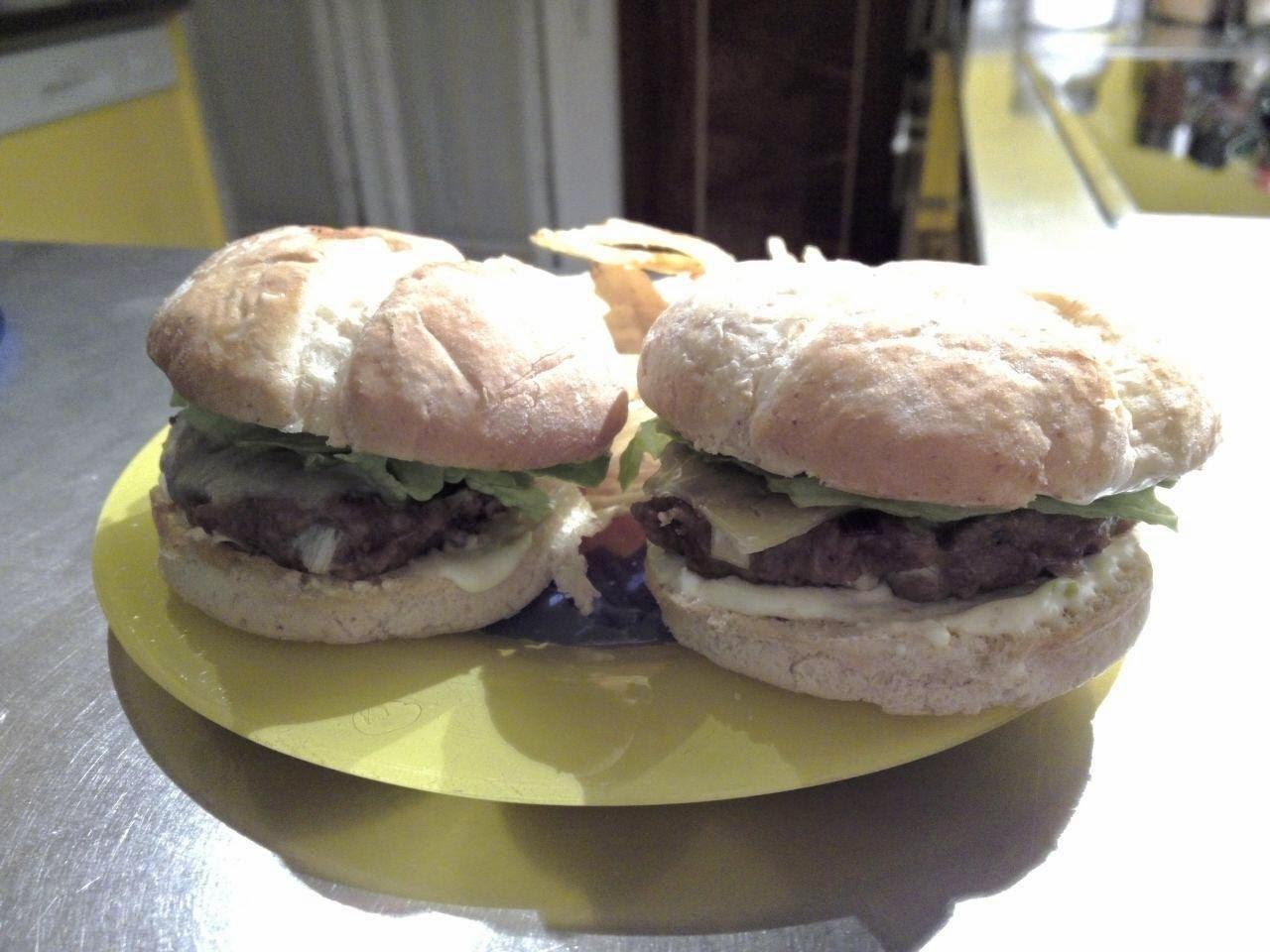 Receta casera de hamburguesa