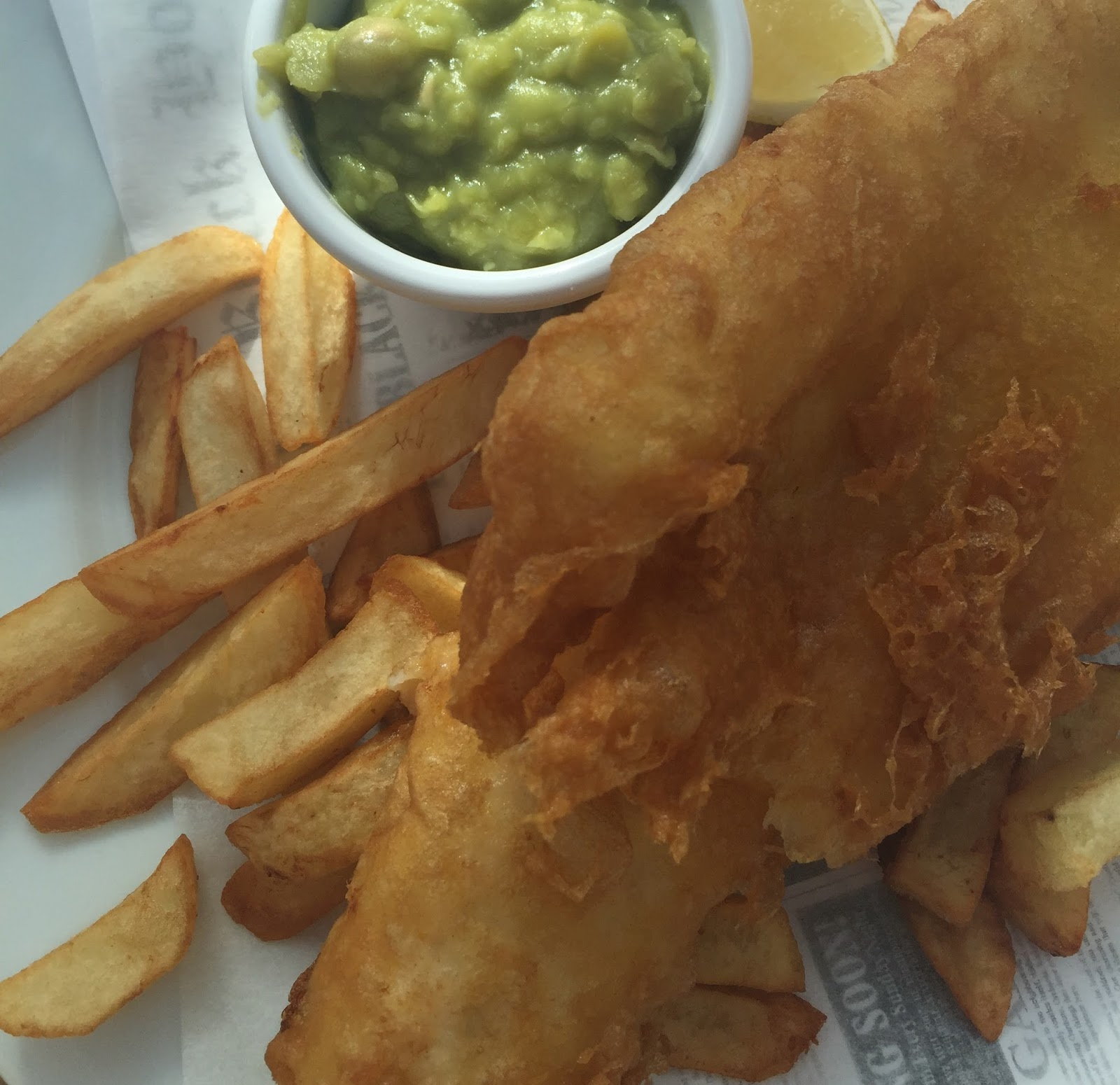 Fish & Chips Friday at Black Horse, Beamish - fish and chips