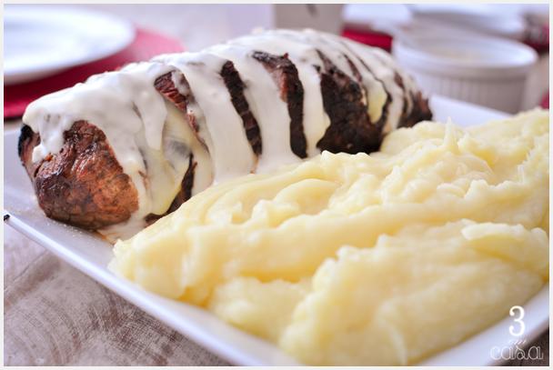 carne com purê de batata