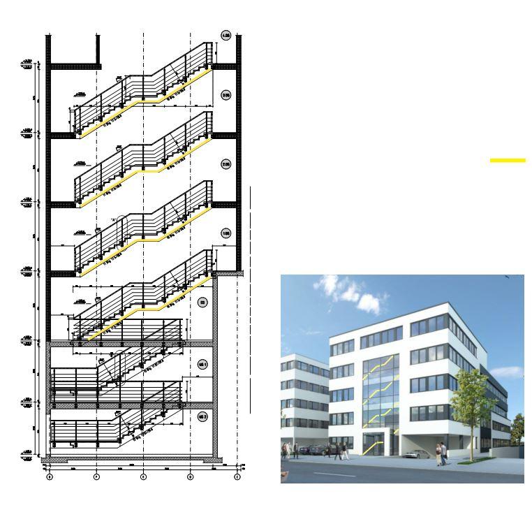 Treppenhaus Planen fassaden licht gestaltung lichtplanung lichtplaner lichtberatung