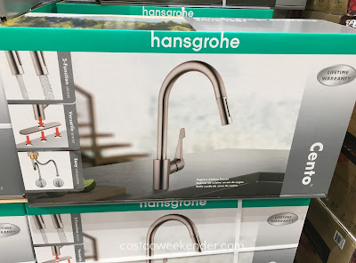 Update your kitchen sink with the Hansgrohe Cento HighArc Kitchen Faucet