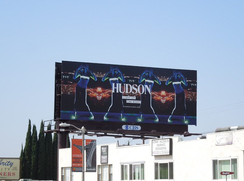 Hudson Jeans Light up night billboard