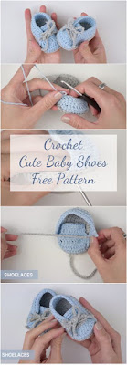 A step-by-step tutorial, Video, Photo collage and a free pattern. This article has it all for those who want to learn how to crochet cute baby shoes!
