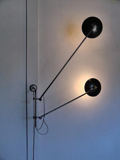 wo and w collection double applique murale orientable abat jour en t le de m tal. Black Bedroom Furniture Sets. Home Design Ideas