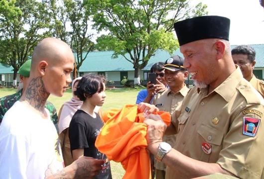 20 Orang Anjal Latihan Pola Pembinaan Terpadu di Batalyon 133 Yudha Sakti