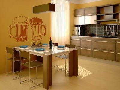 Cocina con vinilos decorativos