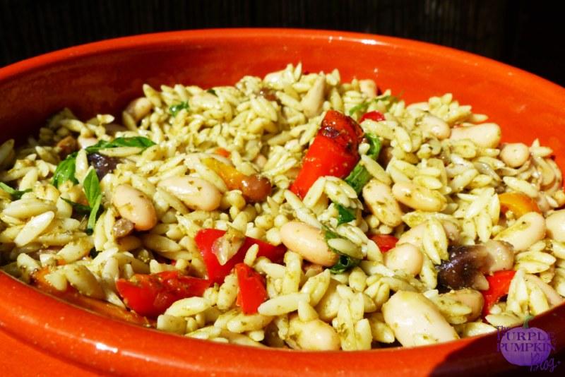 Pesto, Orzo & Cannellini Bean Salad