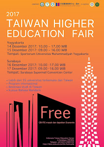 Taiwan Higher Education Fair 2017 in Yogyakarta and Surabaya
