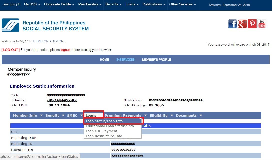 Just Do It Online How To Check Sss Loan Status Online