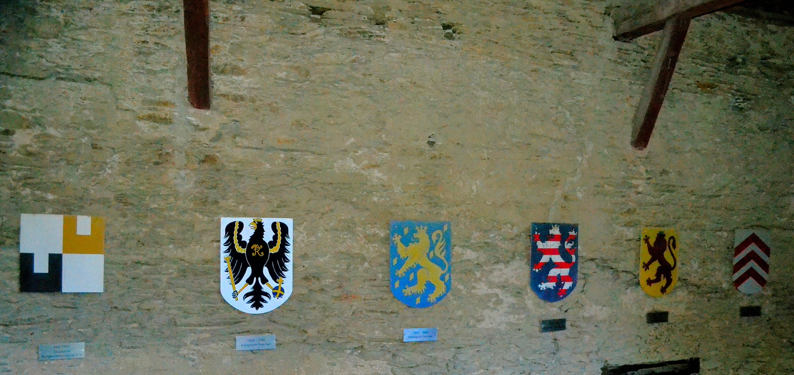 Tracing the lineage of the Marksburg Castle from the Lords of Eppstein at the far right to the German Castles Association, a span of 900 of years.