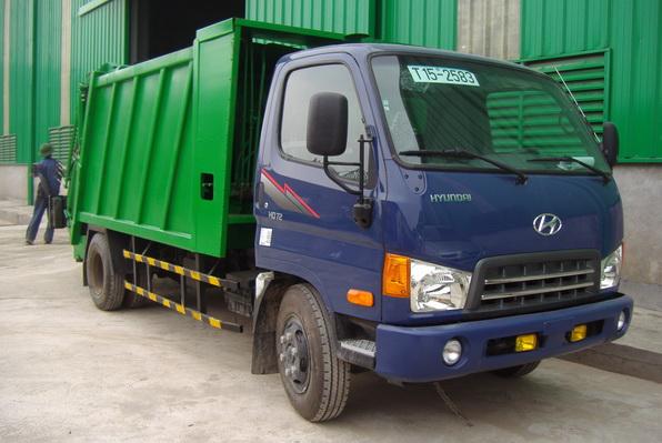 Xe cuốn ép rác Hyundai HD72