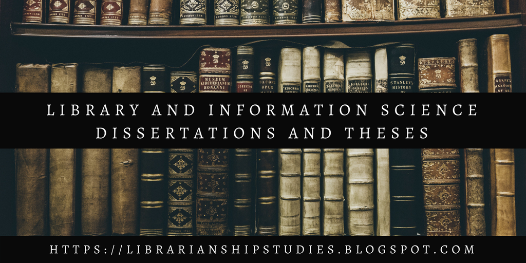Phd thesis on library and information science