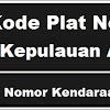 Kode Plat Nomor Kendaraan Kepulauan Aru