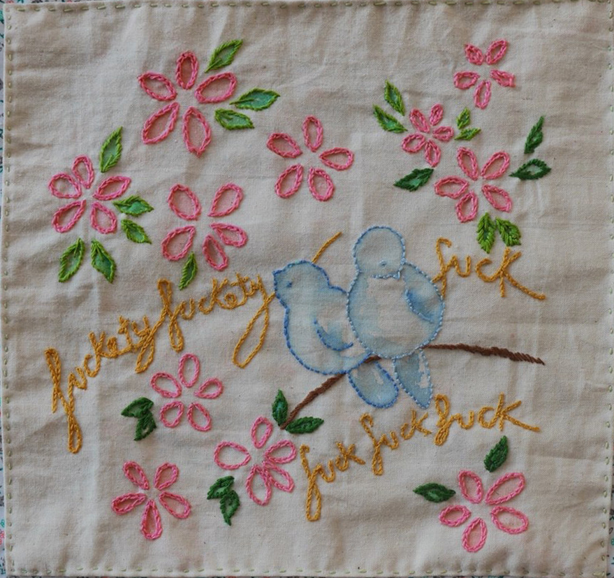 The Textile Blog The Profanity Embroidery Group