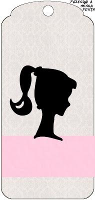 Etiquetas Para Imprimir Gratis De Barbie Silueta Ideas Y