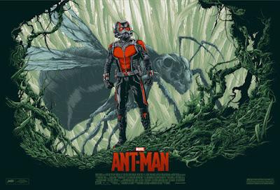 Ant-Man Movie Standard Edition Marvel Screen Print by Ken Taylor x Mondo