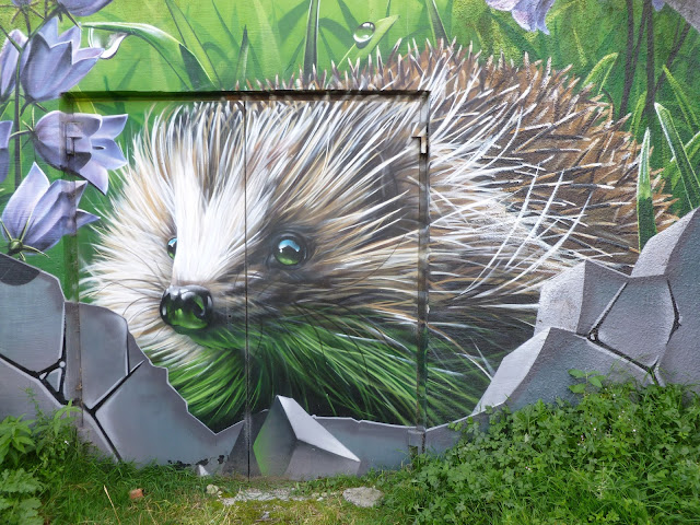 Smug Woodland Animal graffiti Glasgow