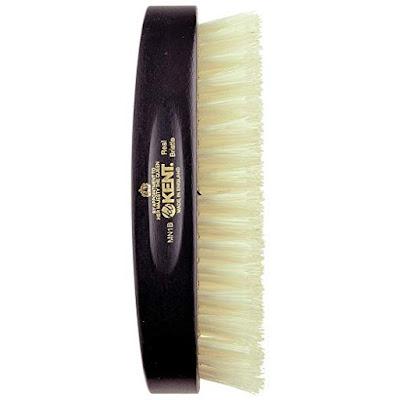 Kent's Ebony Wood White Bristle Hairbrush