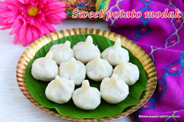 Sweet potato modak