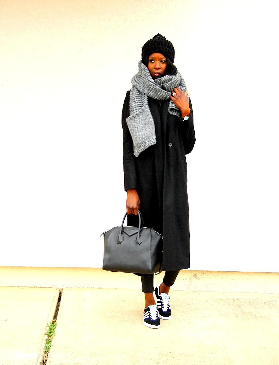 manteau-long-promod-baskets-gazelle-adidas-givenchy-antgona-echarpe-pieces