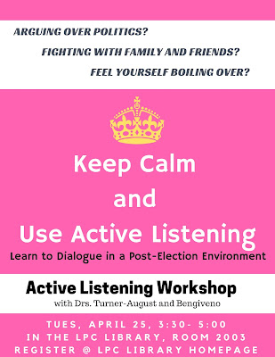 active listening workshop april 25 in library