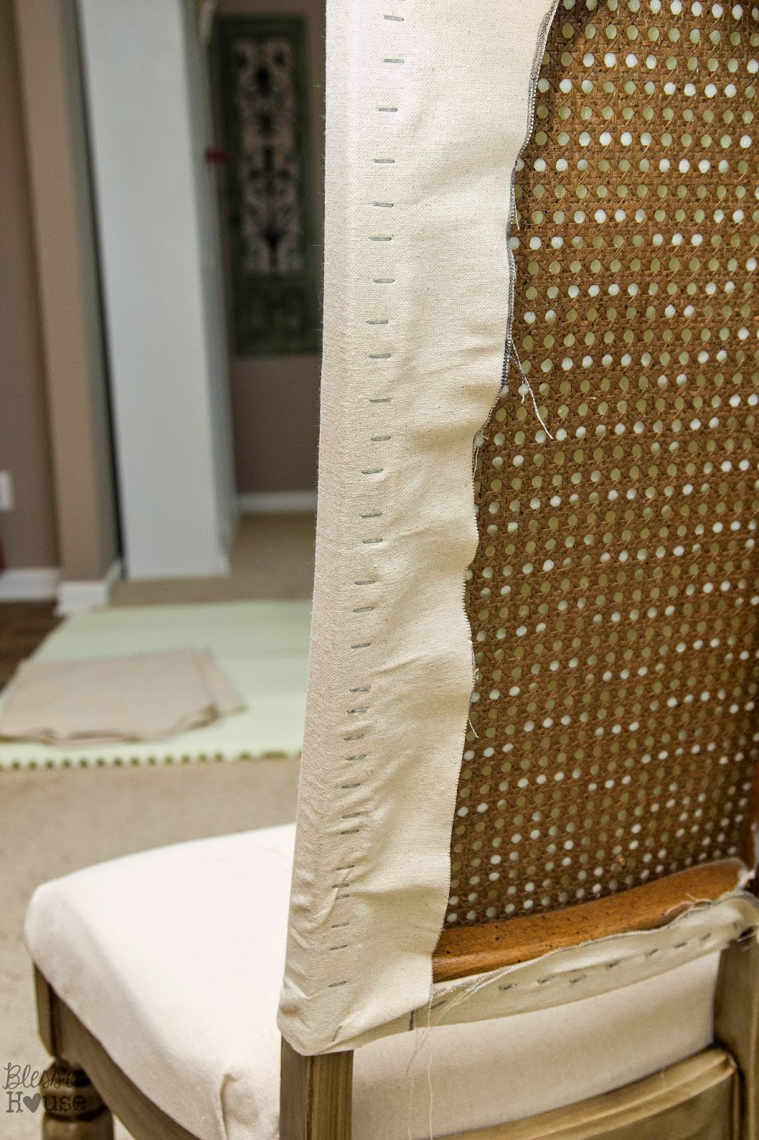 How To Make Kitchen Chair Back Covers Winston Sling Replacement Fabric Knock Off No Sew Dining Chairs Bless Er House Restoration Hardware
