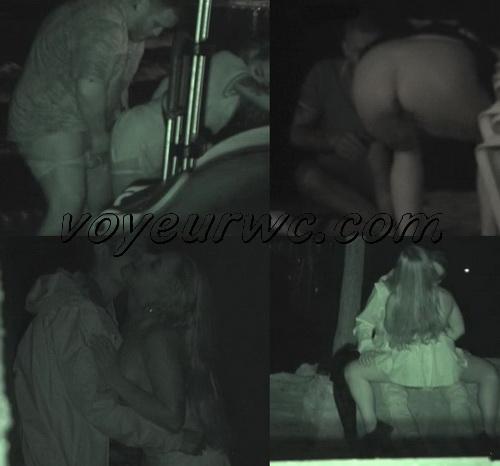 Couple Having Sex in Public on Street Hidden Cam (Galician Night Sex 127-129)