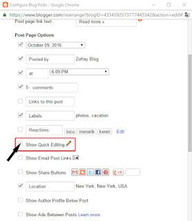 Cara Menghilangkan Ikon Pensil di Blog