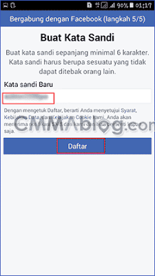 membuat akun Facebook di hp Android