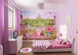 Desain Interior Kamar Tidur Anak Perempuan 2016