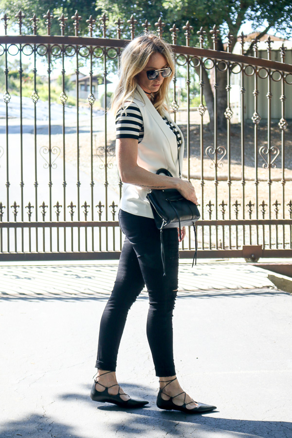black and white outfit style parlor girl