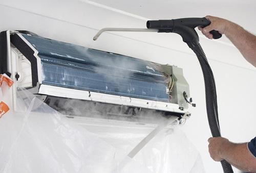 Cuci AC tanpa pembongkaran unit