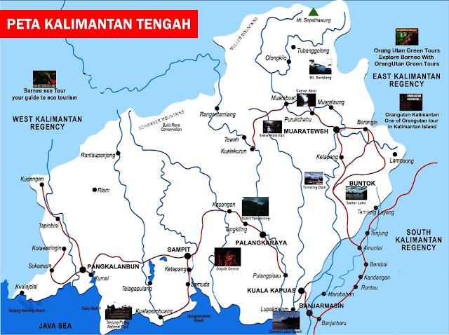 Gambar Peta Kalimantan Tengah