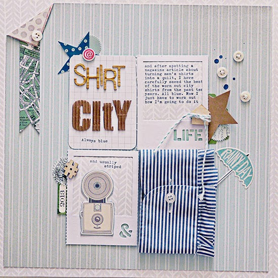 From High In The Sky - scrapbooking with stripes