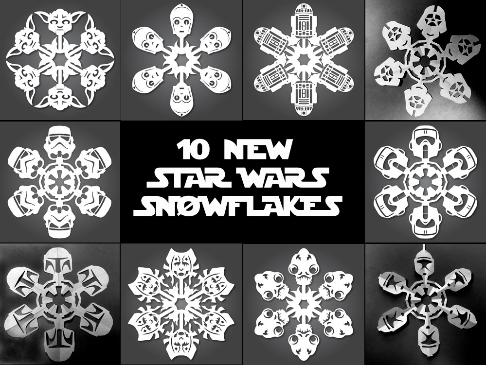 If its hip its here archives its snowing star wars 10 new this year one of my most popular posts has been my 2010 how to make your own star wars snowflakes darth vader and a bobba fettclone snowflake as taught pronofoot35fo Image collections