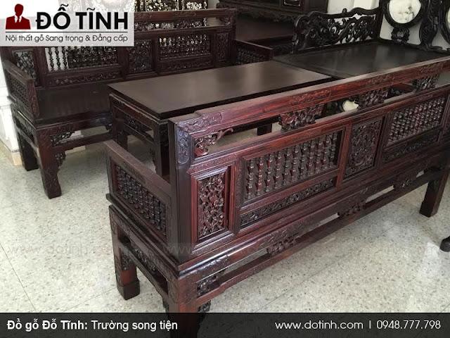 Trường kỷ song tiện - Làng nghề đồ gỗ Nam Định