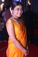 Shalini Pandey in Beautiful Orange Saree Sleeveless Blouse Choli ~  Exclusive Celebrities Galleries 037.JPG