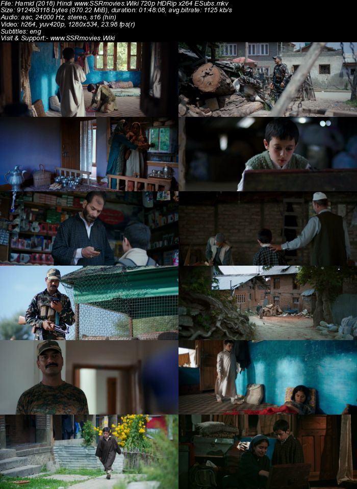 Hamid (2018) Hindi 720p HDRip x264 850MB ESubs Movie Download