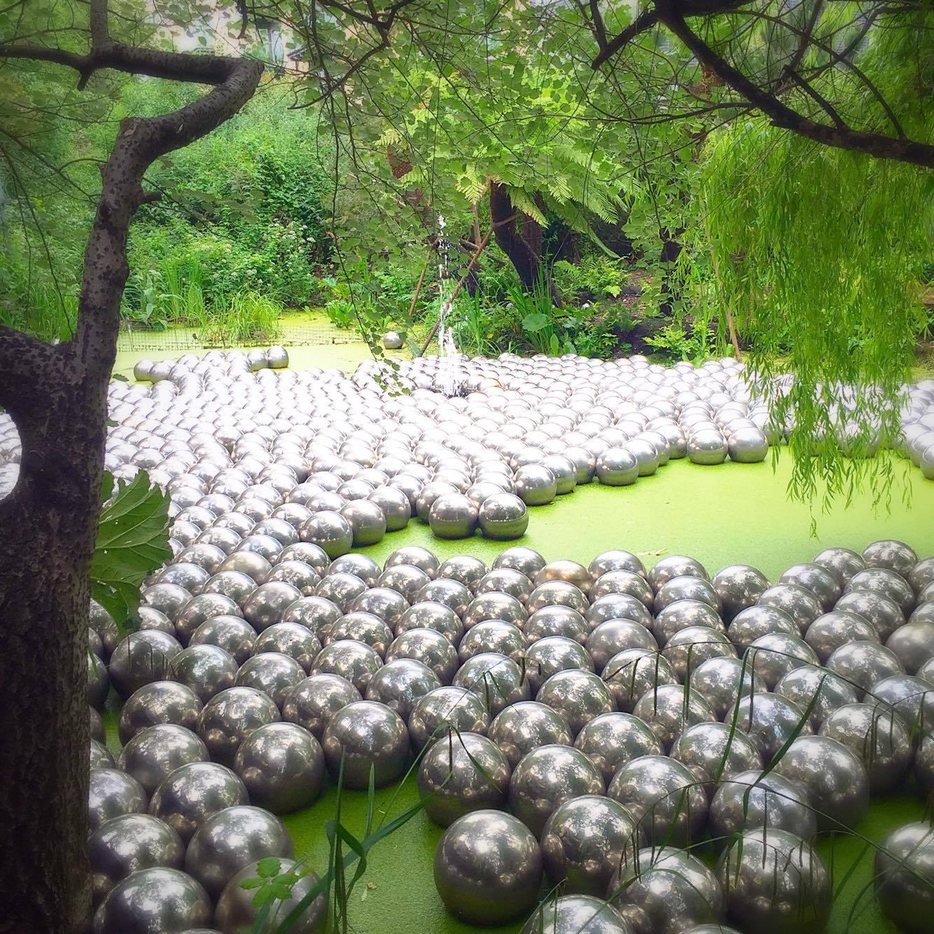 Narcissus Garden Waterfront Garden Victoria Miro Yayoi Kusama