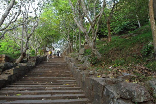 The steps that lead to Mihinthale, one of Anuradhapura's highlights