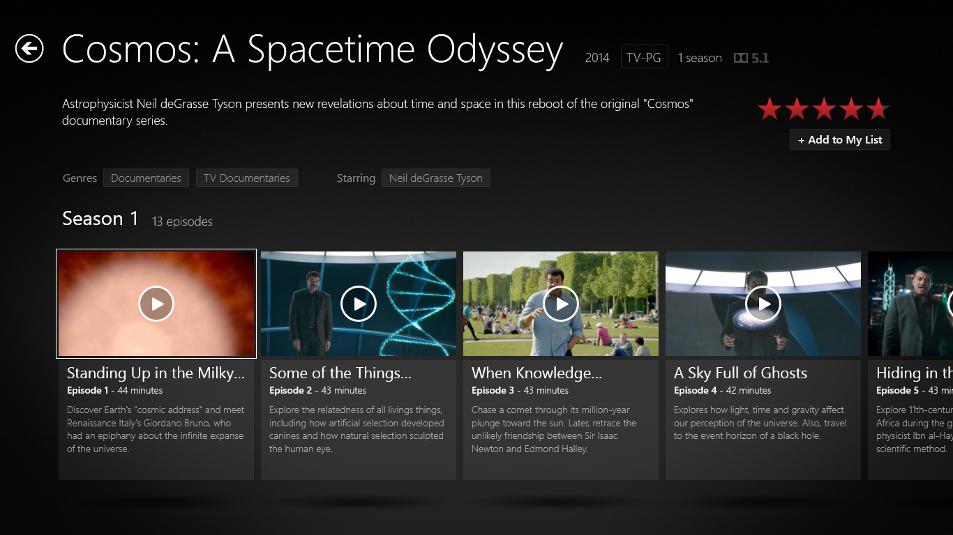 Cosmos: A Spacetime Odyssey - Now on Netflix! - Science Dose