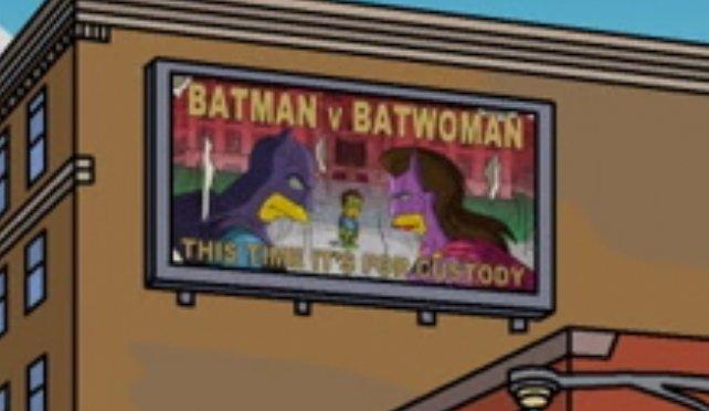 Los Simpsons hacen una burla de Batman v Superman