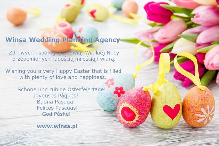 Życzenia wielkanocne, życzenia na wielkanoc, Wesele Wielkanocne, Wesele na Wielkanoc, życzenia wielkanocne w różnych językach, ślub na wiosnę, Winsa Śluby, Winsa Wedding Planners Kraków