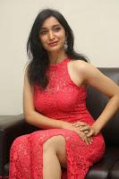 Sakshi Kakkar in Red Legsplit Sleeveless Gown at Dare movie Press meet ~  Exclusive 083.JPG