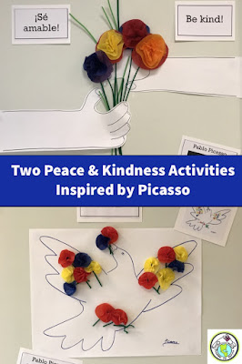 Two Peace & Kindness Activities for Kids in Spanish Class Inspired by Picasso
