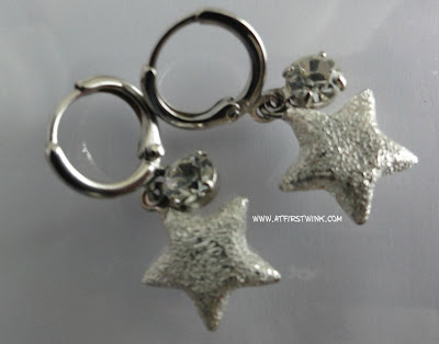 earrings with silver star charms