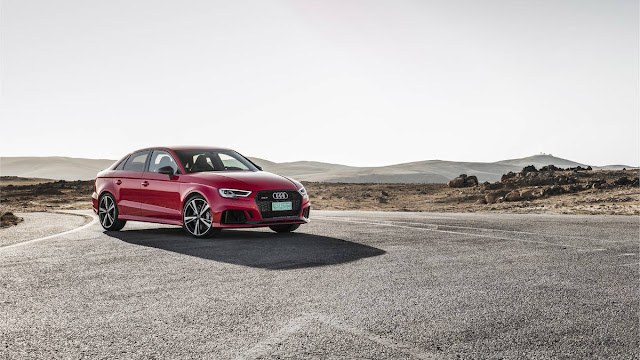 New Audi RS3 with more power front view