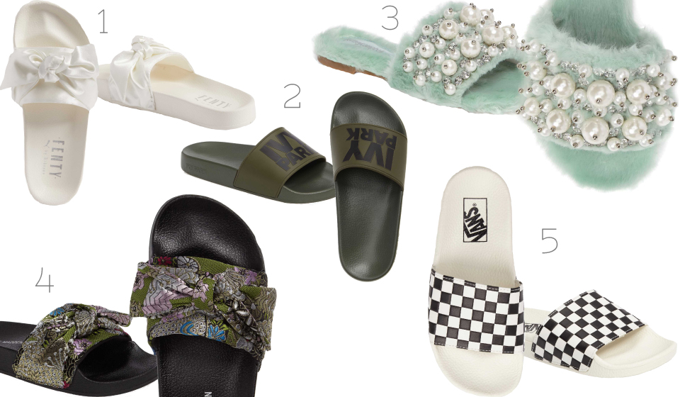 Nordstrom, Affordable, slide sandals, Ivy Park, Fenty Puma, Vans, footwear, summer, fashion, blogger