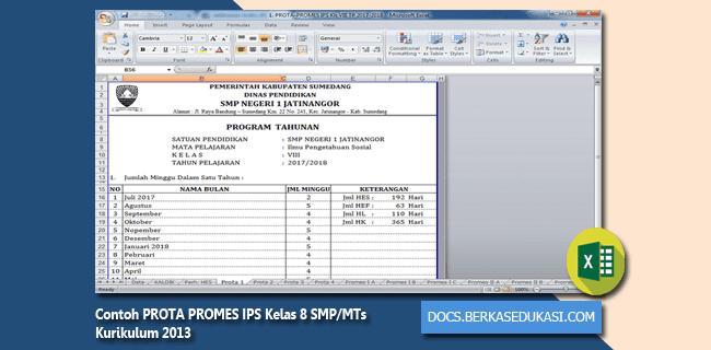 Contoh PROTA PROMES IPS Kelas 8 SMP MTs Kurikulum 2013